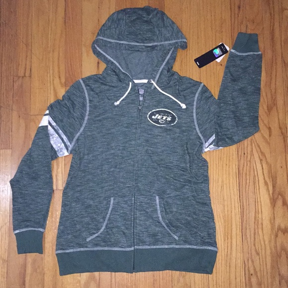promo code 0a886 667a2 New York Jets Zip-Up Hoodie NWT